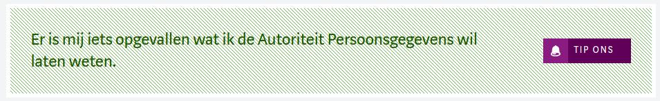 Klik-knop van de Autoriteit Persoonsgegevens